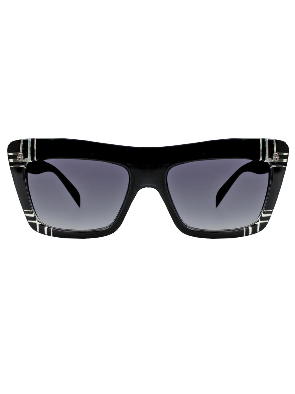 Retro Squared Sunglasses With Hard Case