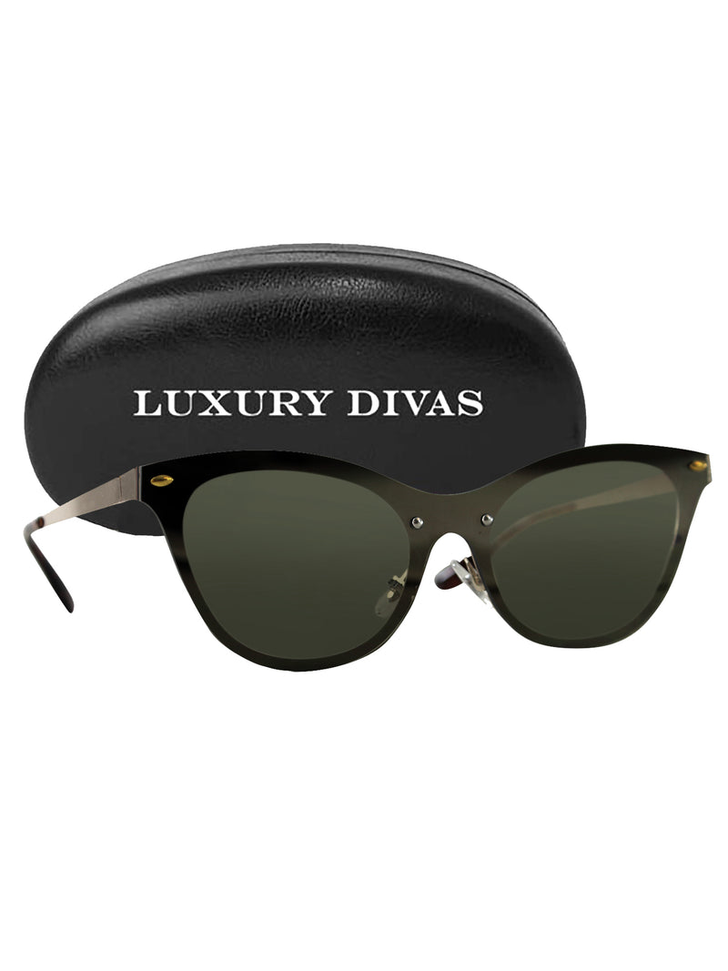 Rimless Retro Sunglasses With Case