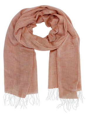 Linen Lightweight Scarf Shawl With Fringe