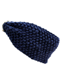 Soft Knit Headband With Chain Knot