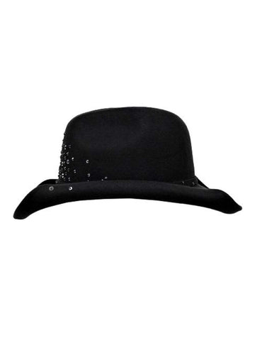 Gray Wool Shapeable Cowboy Hat With Sequin Detail