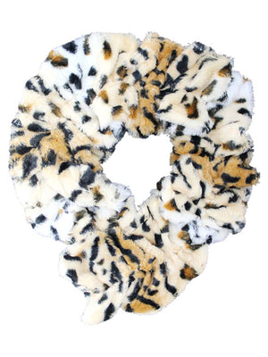 Animal Print Faux Fur Neck Scarf
