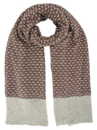 Two-Tone Knit Oversize Oblong Unisex Winter Scarf