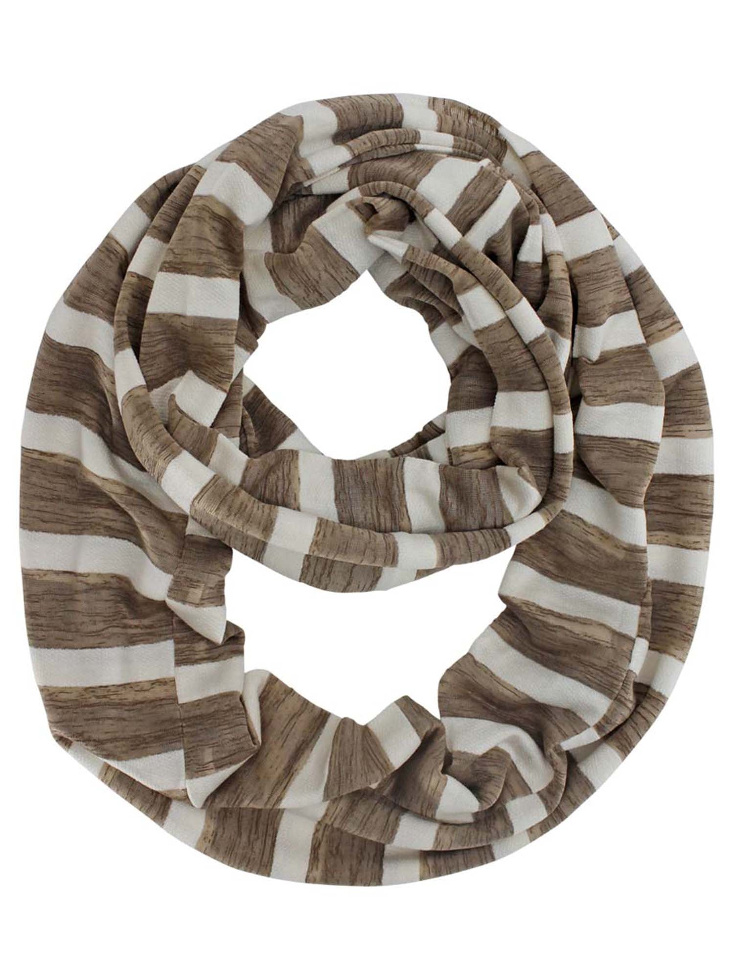 Striped Light Infinity Scarf