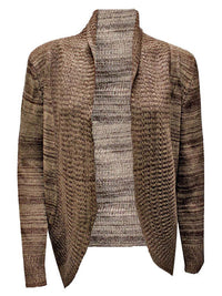 Gradient Knit Long Sleeve Cardigan Sweater