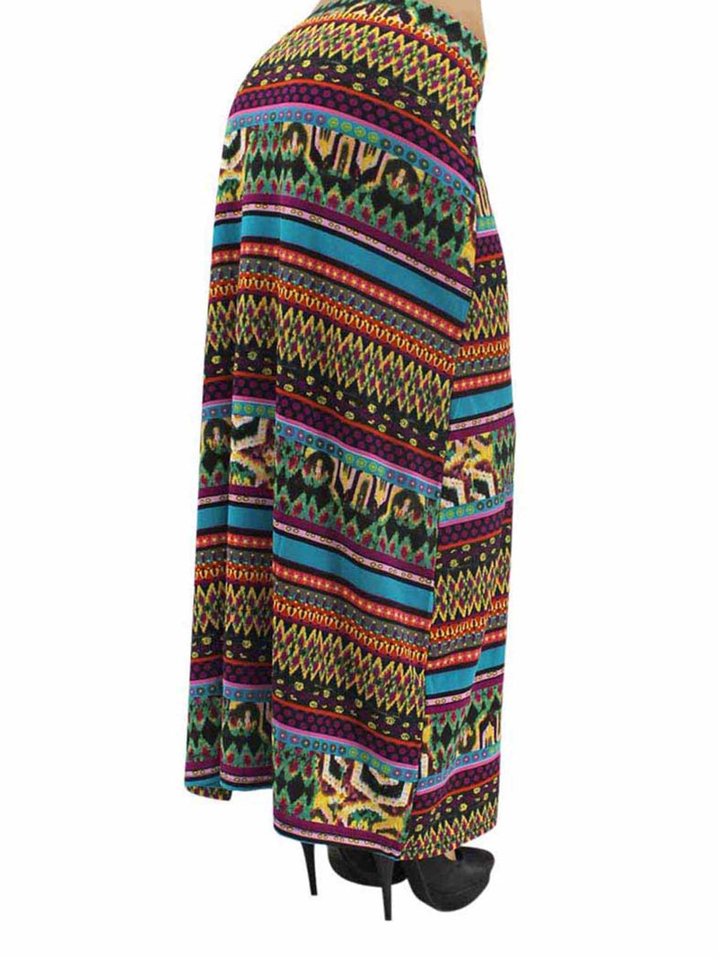 Bohemian Maxi Skirt With Side Slit