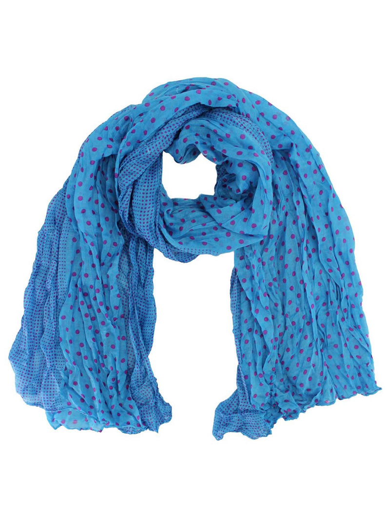 Polka Dot Light Crinkled Scarf