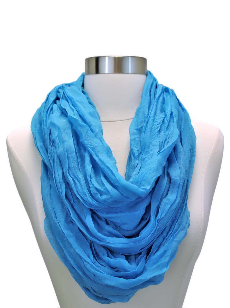 Crinkled Light Infinity Scarf