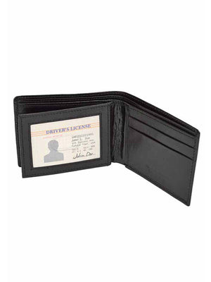 Crocodile Embossed Genuine Leather Mens Bifold Wallet