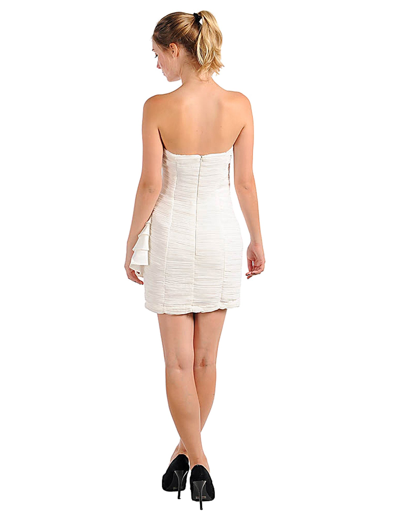 Strapless Cocktail Dress With Ruffle Bottom