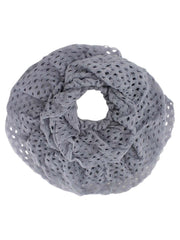 Frilly Crochet Knit Infinity Scarf