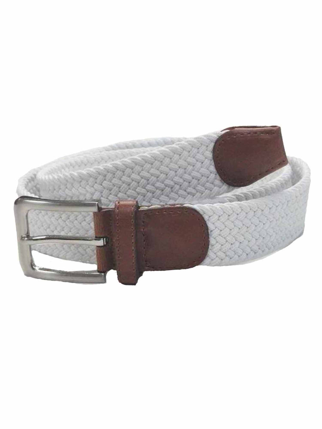 Gunmetal Buckle Leather Tip Braided Belt