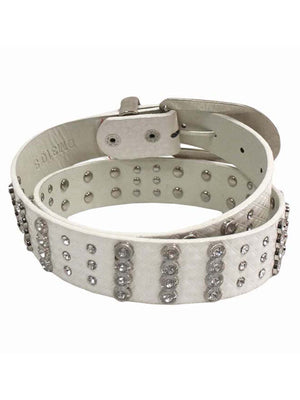 Diamond Patterned Rhinestone Belt