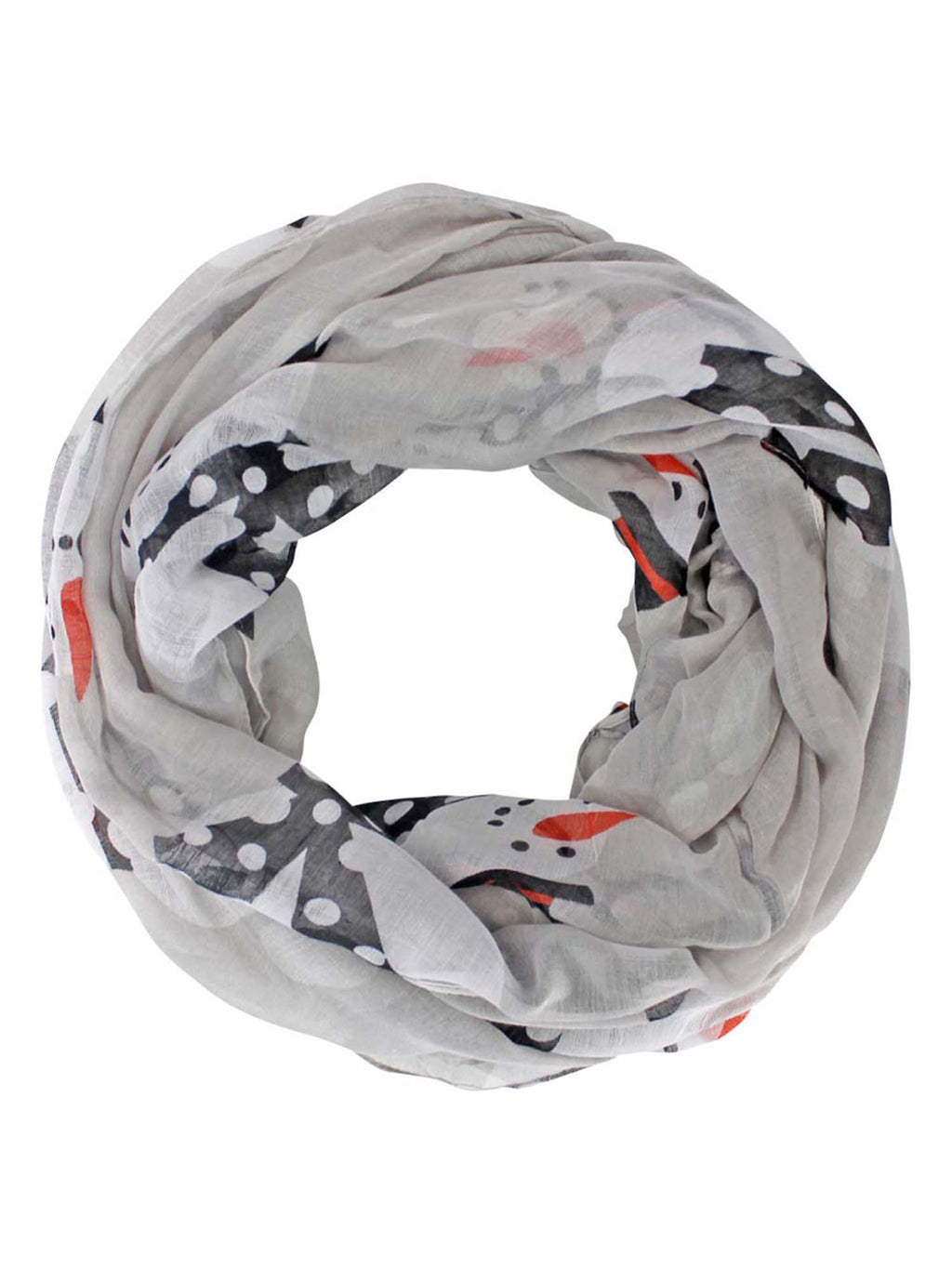 Happy Snowman Christmas Circle Infinity Scarf