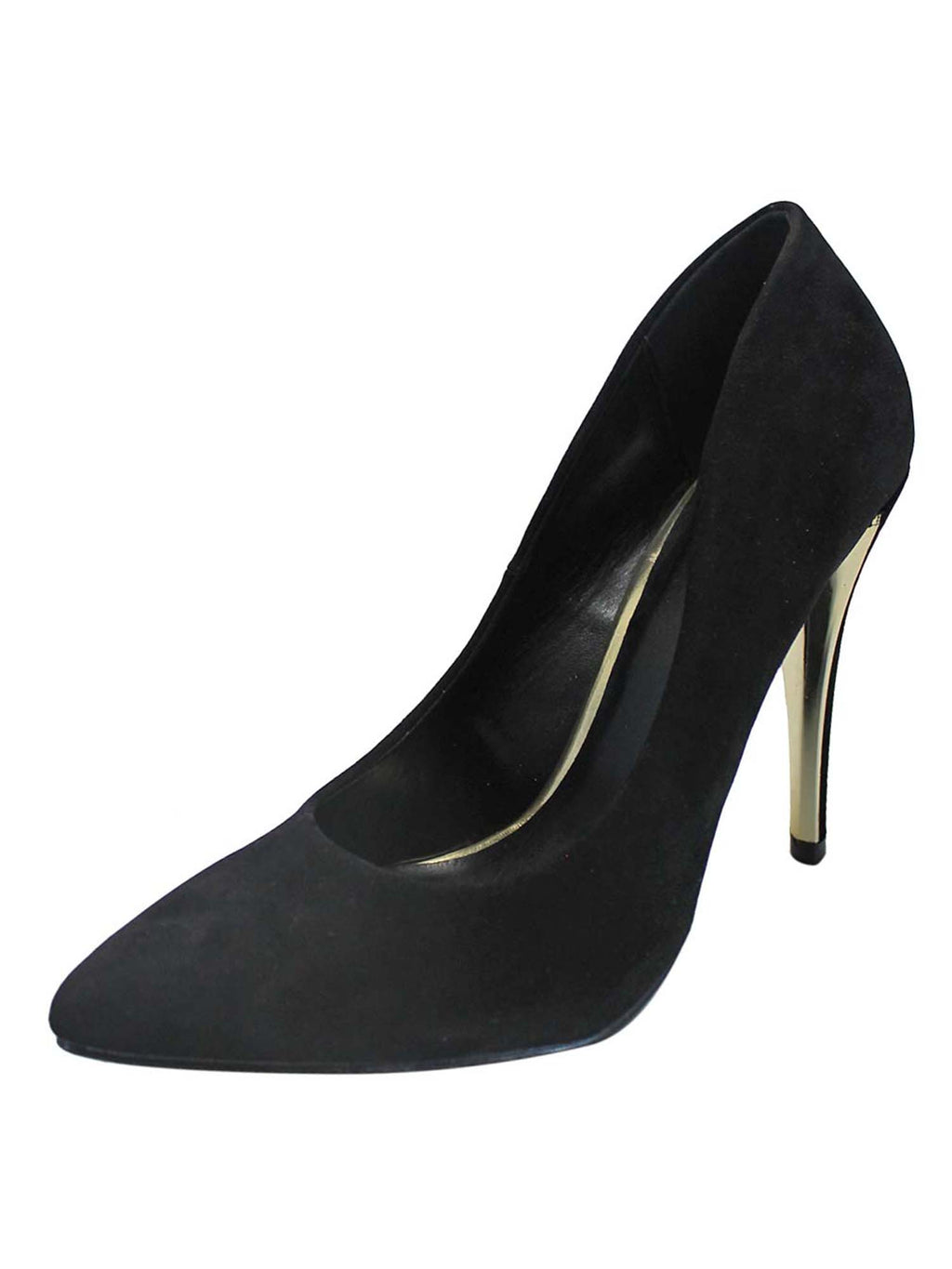 Black Pointed Toe Stiletto Pumps For Women