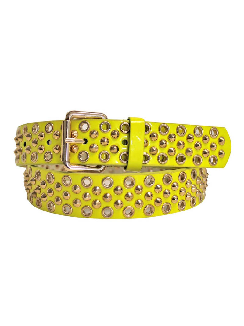 Golden Studded Spike Grommet Belt