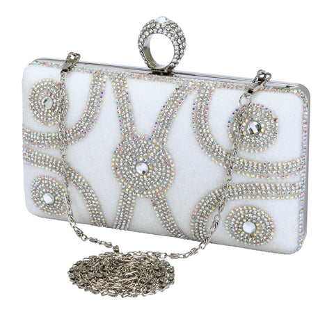 HB-ETERNITY-102 CLUTCH BY DE BLOSSOM COLLECTION