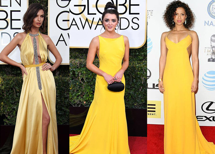 Celebrity Yellow Prom Dress
