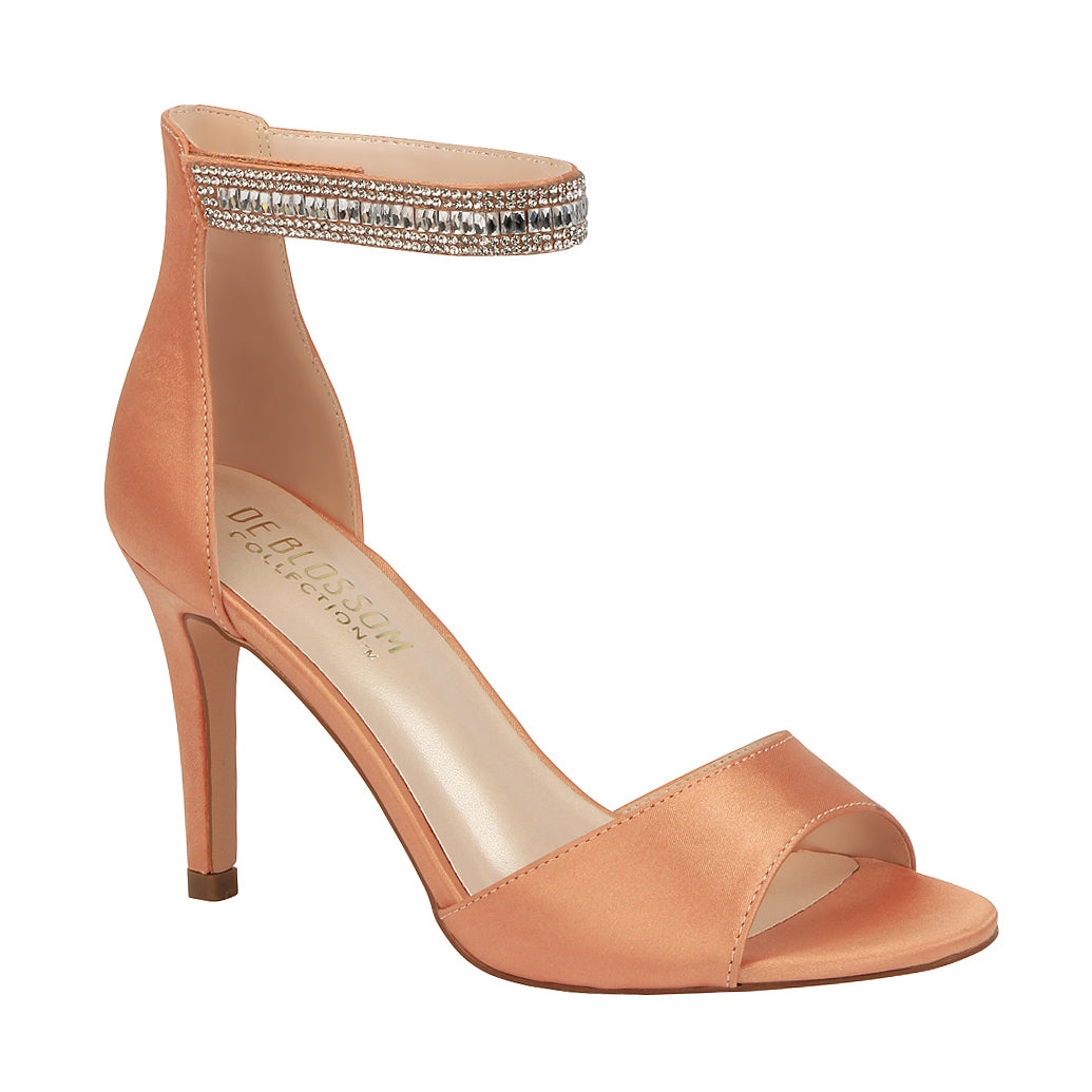 EMILY-18 Satin Single Sole Dress Shoe- Rose Gold