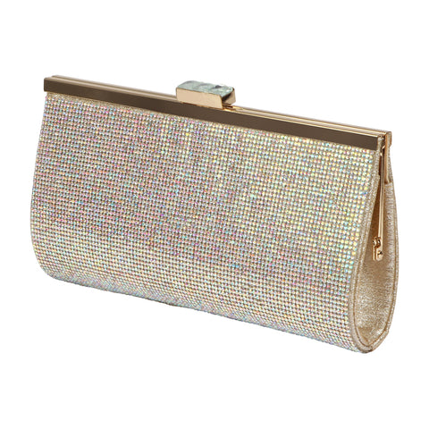 HB-48X Women's Rhinestone Evening Handbag- Nude