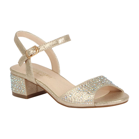 K-BRENDA-9 Kids Evening Sandal- Champagne