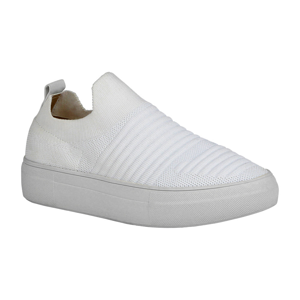 KENNEDY-1 Women's White Slip-On Sneaker