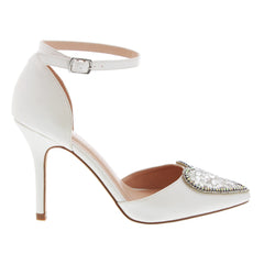 Renzo-49 Pointed Toe Pump- Ivory