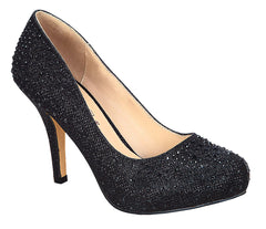Robin-146 Round Toe Pump- Black