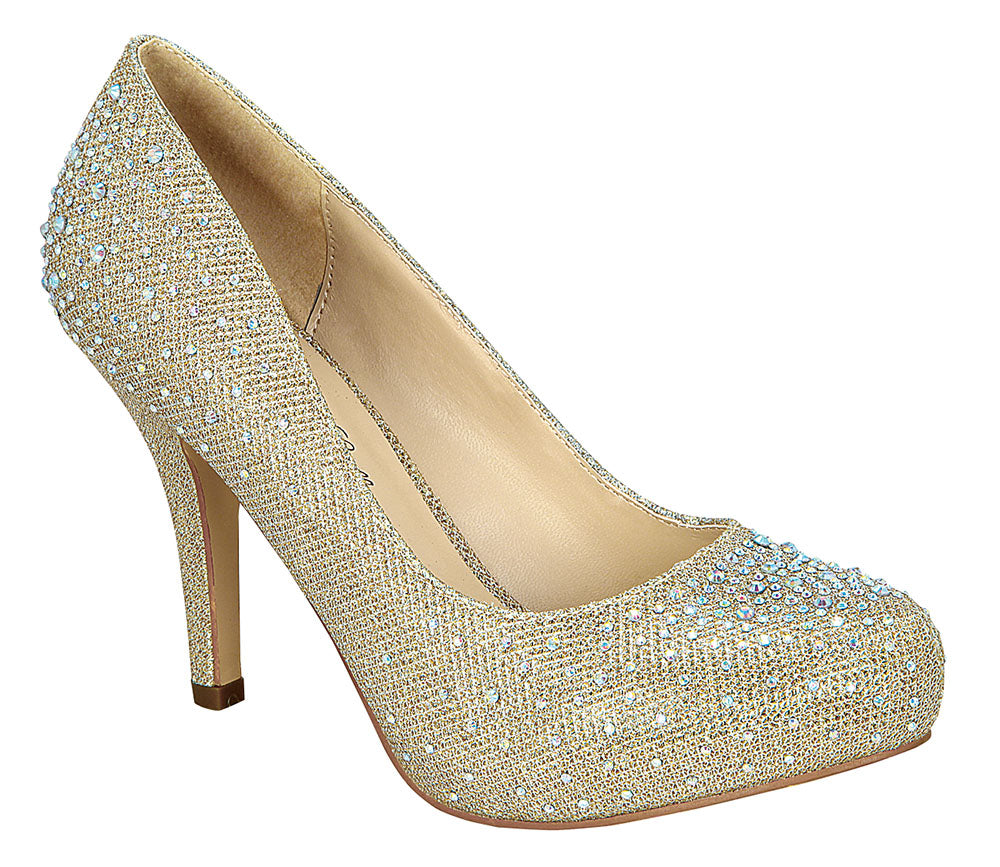 Robin-146 Round Toe Pump- Nude, Heels- De Blossom Collection
