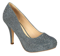 Robin-146 Round Toe Pump- Pewter
