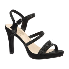 TAYLOR-17 Women's Strappy High Heel Dress Shoe- Black