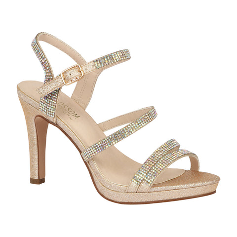 TAYLOR-17 Women's Strappy High Heel Dress Shoe- Nude