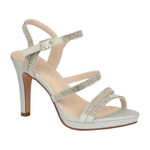 TAYLOR-17 Women's Strappy High Heel Dress Shoe- Silver
