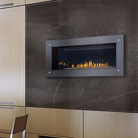 "Napoleon Vector 38 Direct Vent 57"" Electronic Ignition Fireplace with Surround"