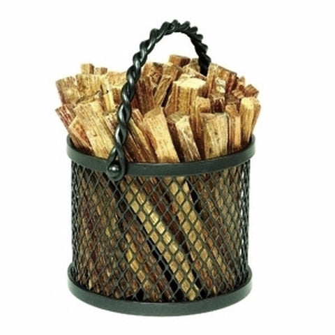 Twisted Rope Firewood Basket Caddy - Colorado Fireplace Supply