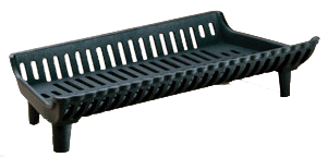 "Cast Iron 17"" Medium Wood Fireplace Grate - Colorado Fireplace Supply"