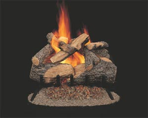 Kingston 30-Inch Oak Gas Log with Safety Valve - Colorado Fireplace Supply