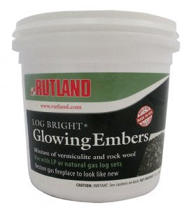 Rutland Glowing Embers and Vermiculite Mix - Colorado Fireplace Supply