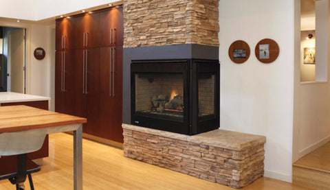 Superior DRT40CR Right 2-Sided Millivolt Fireplace - Colorado Fireplace Supply