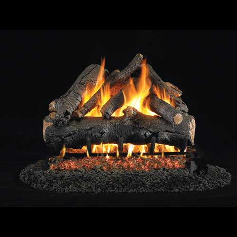 "Peterson Real Fyre Vented 18"" American Oak Gas Logs - Colorado Fireplace Supply"