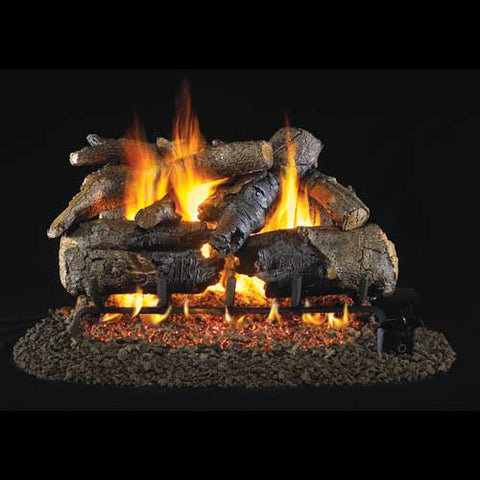 "Peterson Real Fyre Vented 18"" Charred American Oak Gas Logs - Colorado Fireplace Supply"