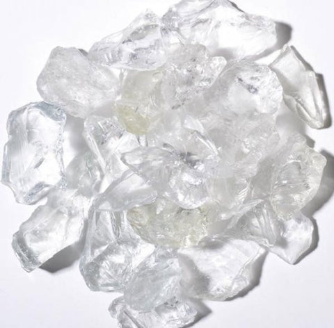 Clear Fire Glass 5lbs - Colorado Fireplace Supply