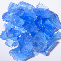 Crystal Blue Fire Glass 5lbs - Colorado Fireplace Supply