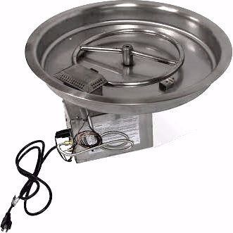 "Round Bowl 13"" Pan Electronic Ignition Fire Pit Insert (NG) - Colorado Fireplace Supply"