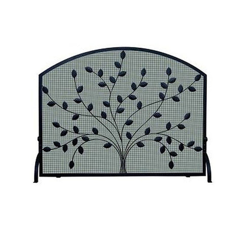 Spreading Leaf Wrought Iron Fireplace Mesh Screen - Colorado Fireplace Supply