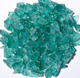 Deep Teal Fire Glass 5lbs - Colorado Fireplace Supply
