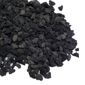 Log Bright Black Volcanic Fireplace Lava Rock - Colorado Fireplace Supply