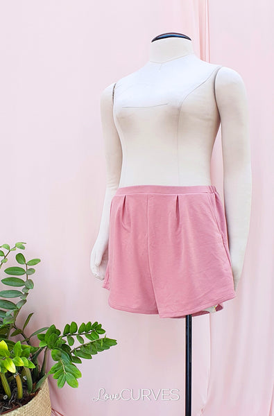 Basic Shorts with Pockets - Blush