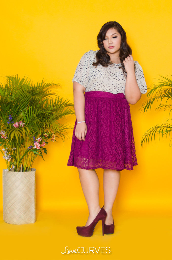Lace A-line Skirt - SIE