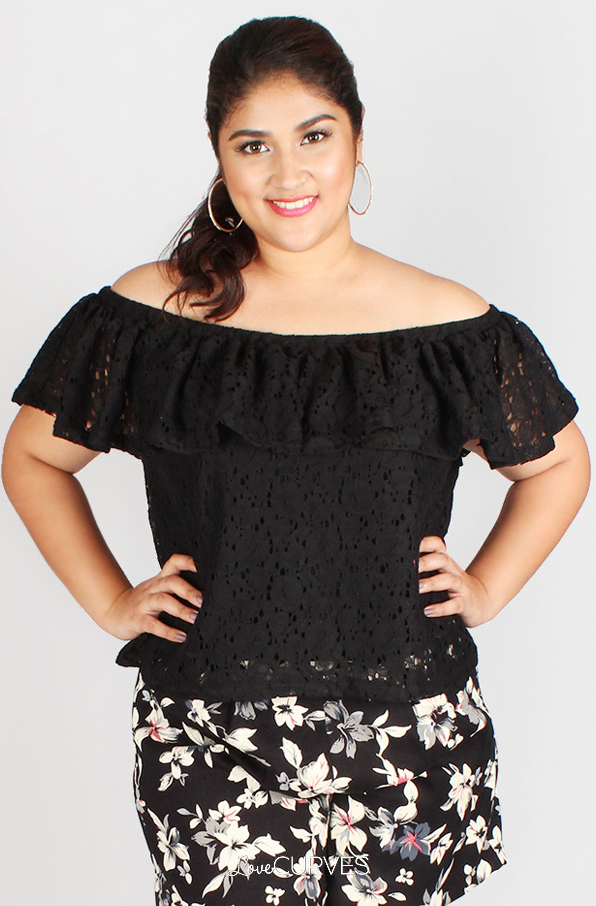 Lace Off Shoulder Top - FLO